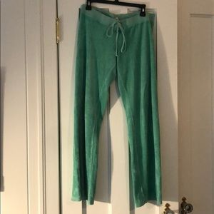 Green terry cloth juicy couture sweatpants, L